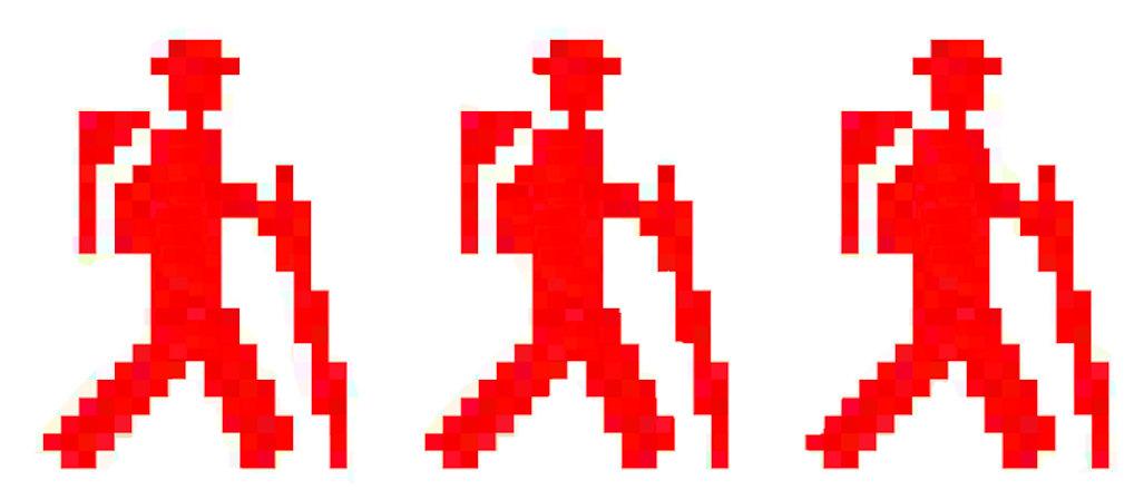 3 bonhommes rouges